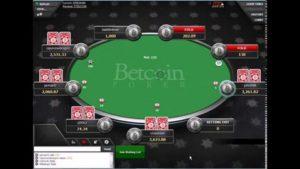 table de poker avec bitcoin